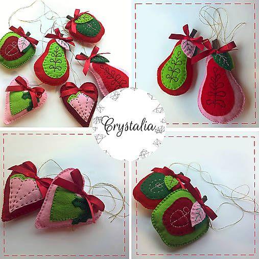 Felt Christmas Ornaments hand made by Crystalia