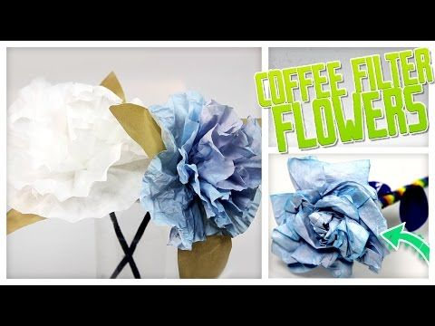 Creative Ideas - DIY Pretty Coffee Filter Flowers - i Creative Ideas