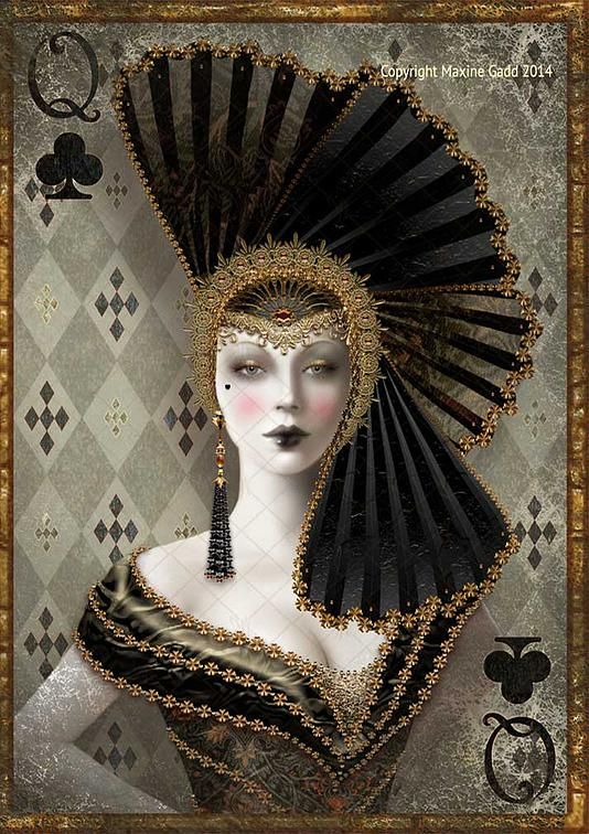 Limited Edition Prints Maxine Gadd is a published artist Queen of Spades