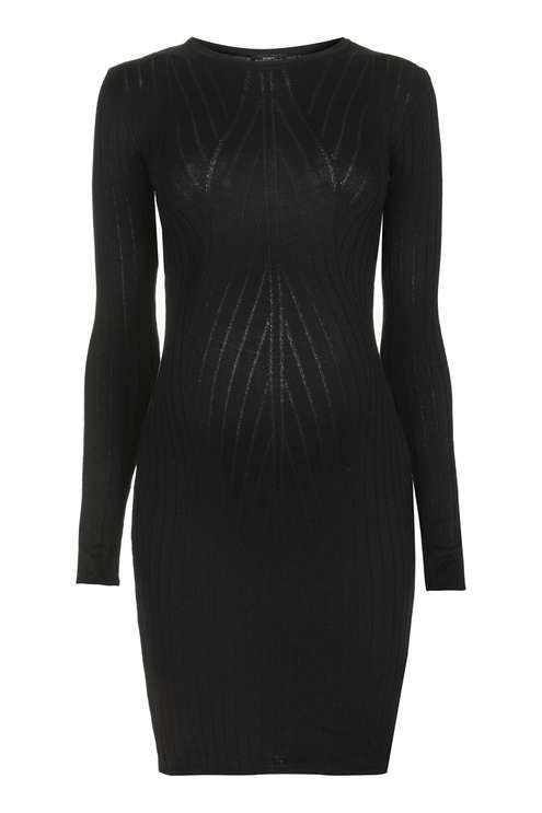 Ribbed knitwear is big news this season. Channel the trend in this jersey bodycon dress for Maternity. The form fit accentuates your bump, while the midi cut keeps the look fresh. #Topshop