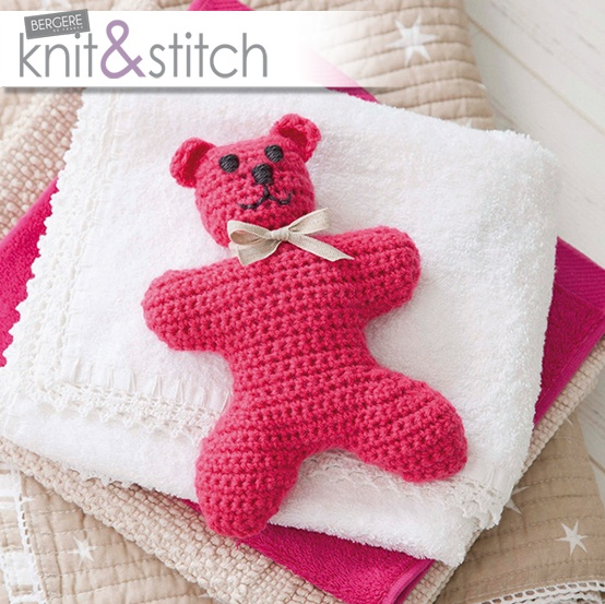 Easy #crochet teddy with the first issue of Knit & Stitch magazine