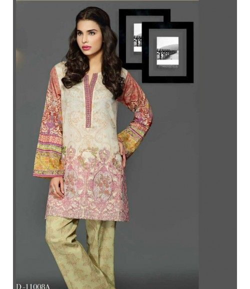 Rangrasiya Embroidered Lawn Collection 2016 D-11008A