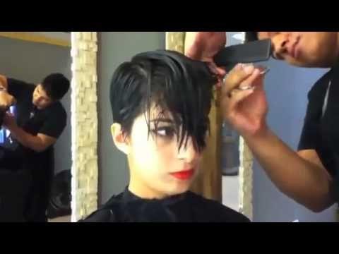 short pixie haircut makeover - undercut / sidecut - extreme haircut short by alisha heide - YouTube