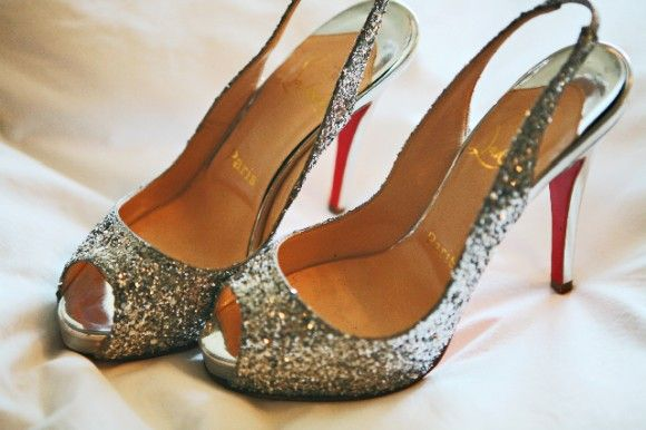 #Silver sparkly #Louboutins