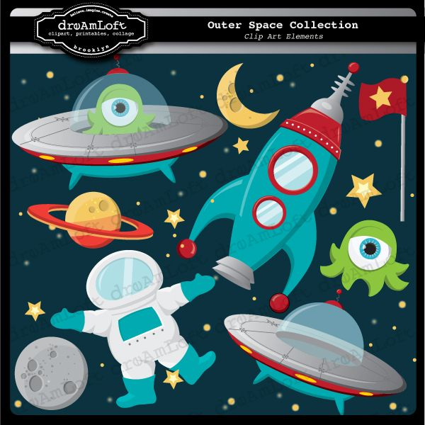 Outer space clip art formats you will receive seprate jpg for Outer space theme