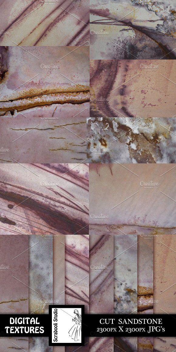 8 Cut Sandstone Textures #stone