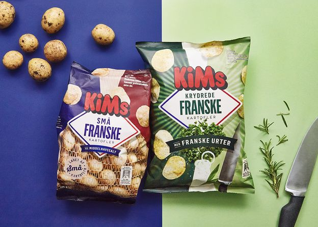 In our latest design for KiMs, we went back to the roots of the French potato crisp. Bon appétit!