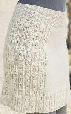 Knitting needles skirt
