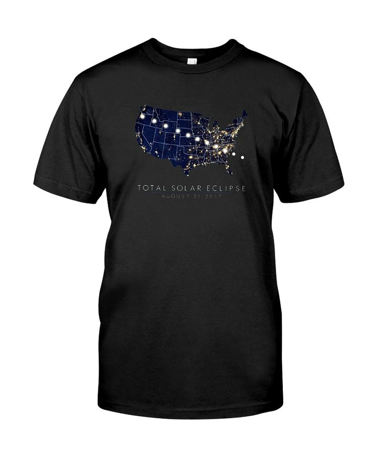 CHECK OUT OTHER AWESOME DESIGNS HERE!      Men's American Map Total Solar Eclipse 2017 T Shirts Gifts. Experts say that viewing a total solar eclipse is something you will never forget!  Make sure you, your friends, and family are prepared for the upcoming U.S. solar eclipse, when the moon passes completely between the sun and the earth and it is seen in the starry night sky. Wear this tshirt tee yourself or gift it to someone special.
