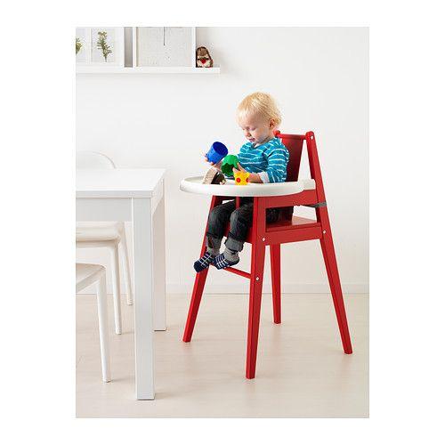 BLÅMES ハイチェア トレイ付き IKEA ハイチェアがあれば小さなお子さまも家族と一緒に食卓を囲めます。社会性を育てるのに役立つだけでなく、自分で食べたいという意欲も生まれます