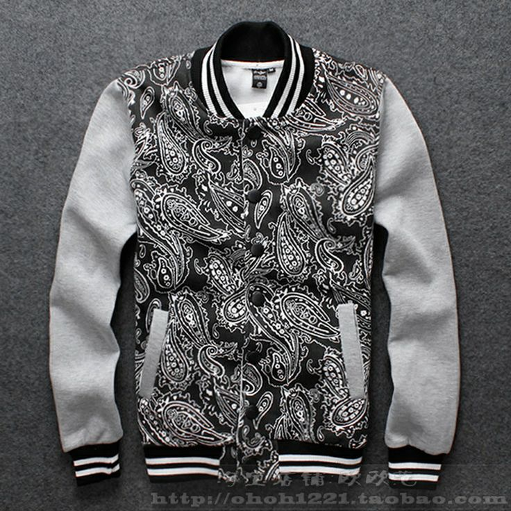 black and white print men clothes