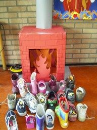 The weeks before Sinterklaas Dutch children leave their shoe at the chimney with an carrot for the horse of Sinterklaas. Hoping they will get a present in return.