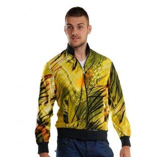 Jacheta pentru barbati este disponibila in 2 variante, ambele surprinzand viata luxurianta a junglei.