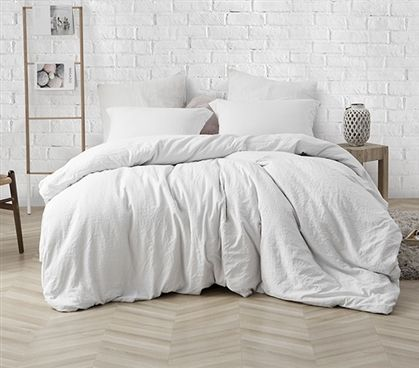 High Quality College Comforter Beautiful Farmhouse White