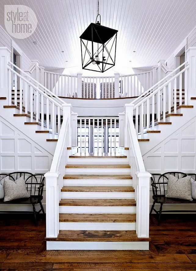 Best 25 foyer staircase ideas on pinterest beach style for Foyer staircase ideas