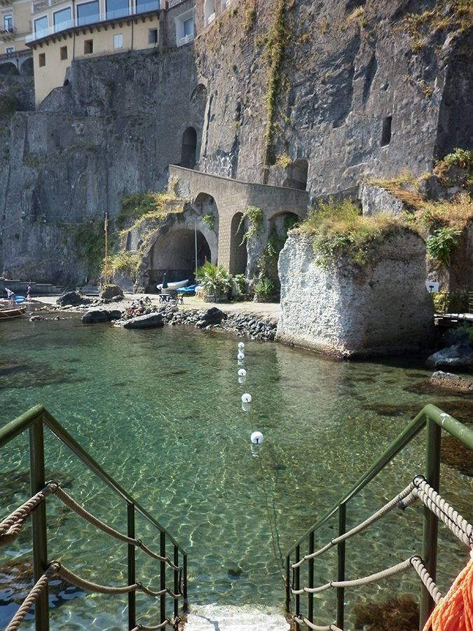 One day I will go to a beach that only has this kind of access....this particular one is in Sorrento, Italy.