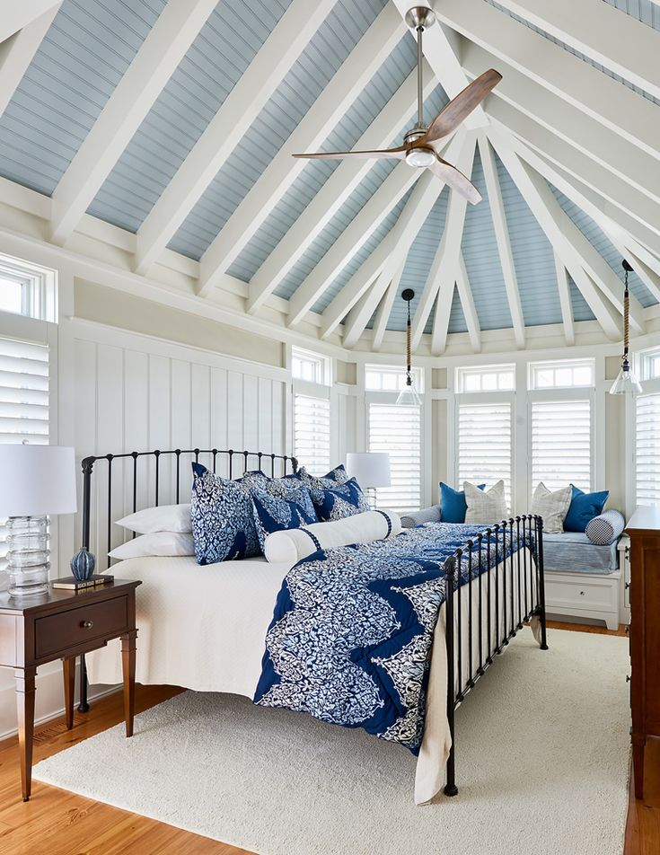 Southern Studio Interior Design. Spacious Beach House Bedroom ...