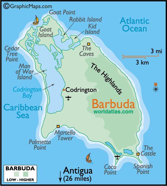 Best Caribbean Bermuda Maps Images On Pinterest Caribbean - Antigua barbuda map caribbean sea