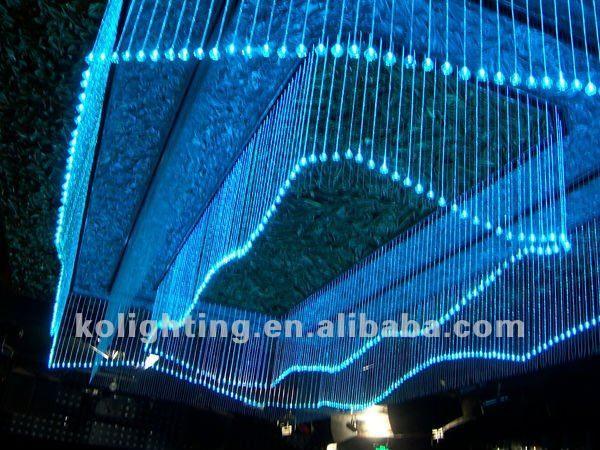 Araña de fibra óptica, De fibra óptica de cortina, De la gota de ...