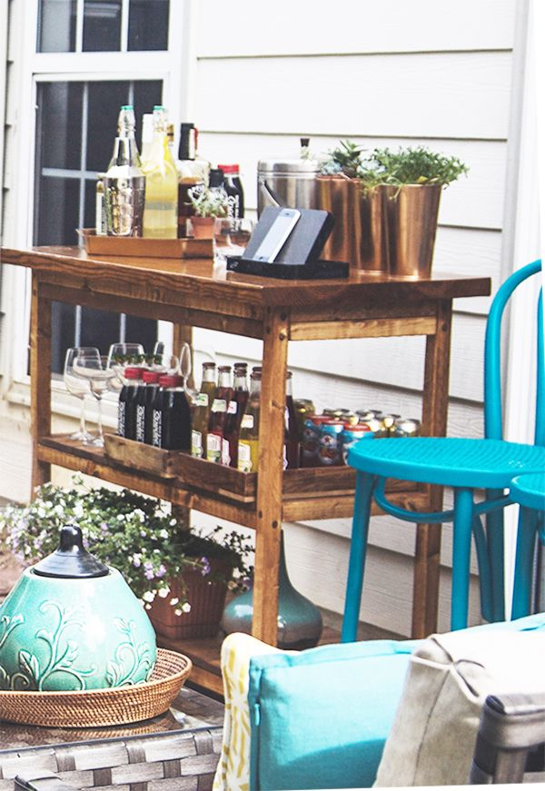 Outdoor Backyard Bar Cart. Love This From In Honor Of Design!