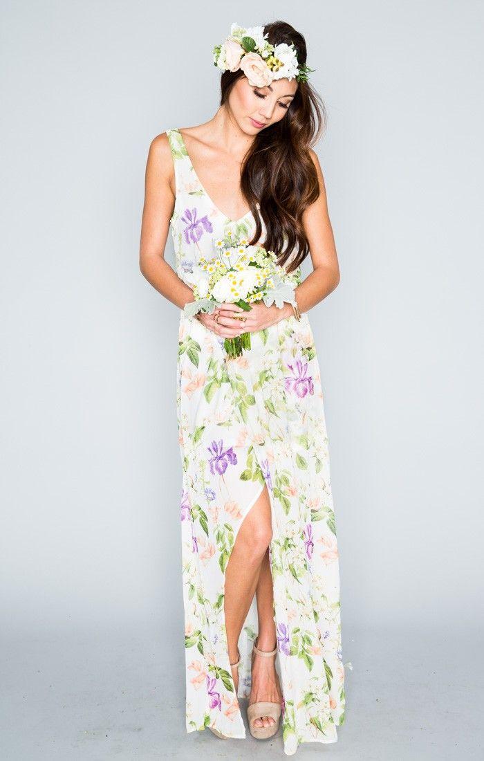 Kendall Maxi Dress - Flower Press | Show Me Your MuMu