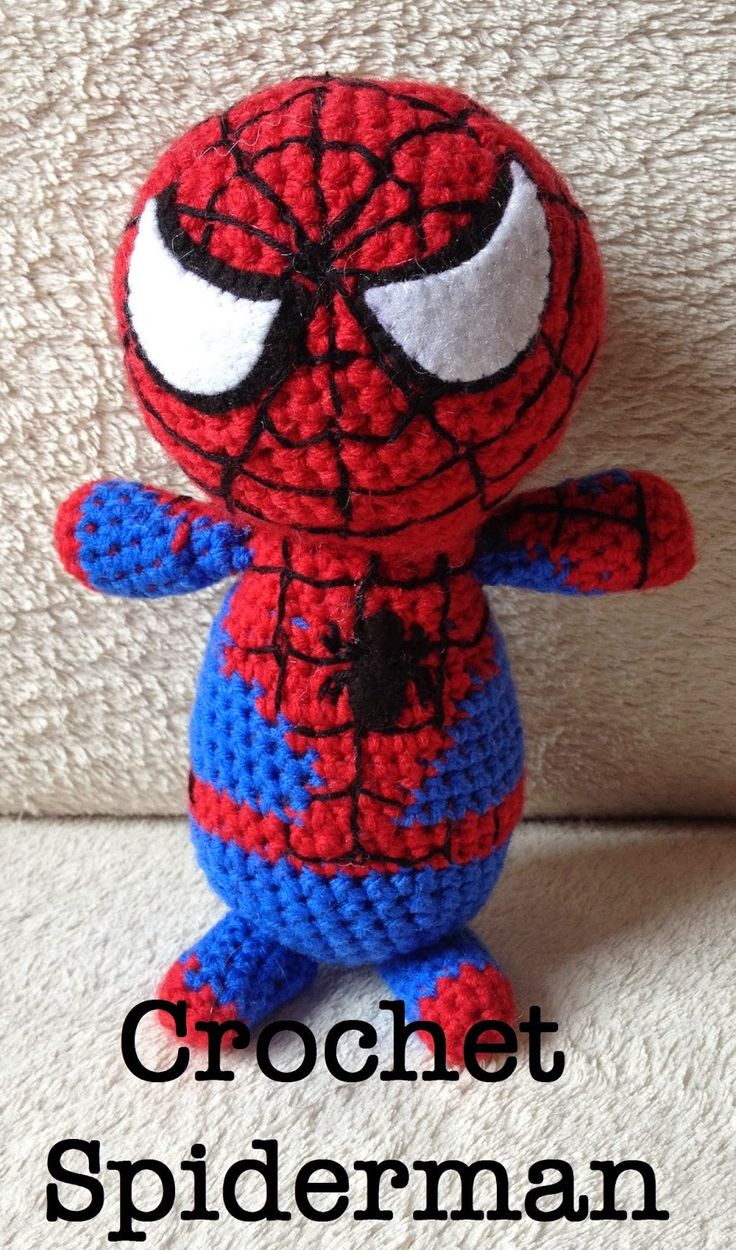The Perfect Hiding Place: Crochet Spiderman - FREE pattern