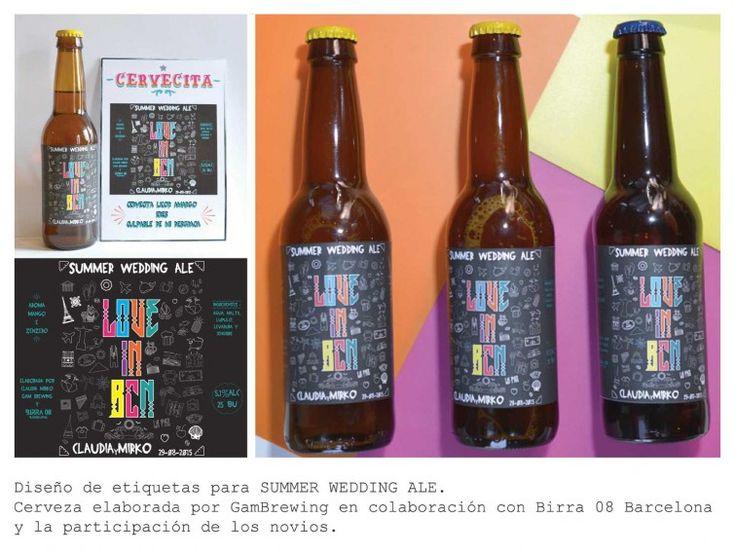Summer wedding Ale. Craft beer make for BIRRA 08 Barcelona and label beer design for FOOD&EVENT