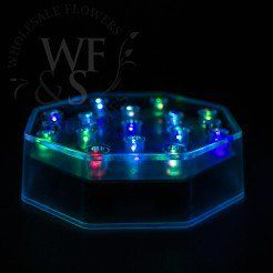 "4"" Illuminating 15 RGB  /red, green, blue / Color Changing LED Centerpiece Light Base"