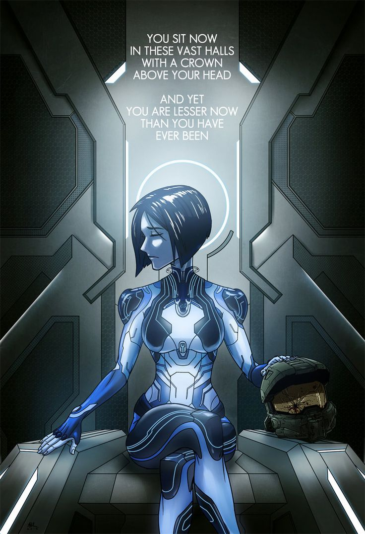 Here's a commission of Cortana's new look from Halo 5. I'm really into the design. Halo 5: In these Vast Halls •Andrew Kwan
