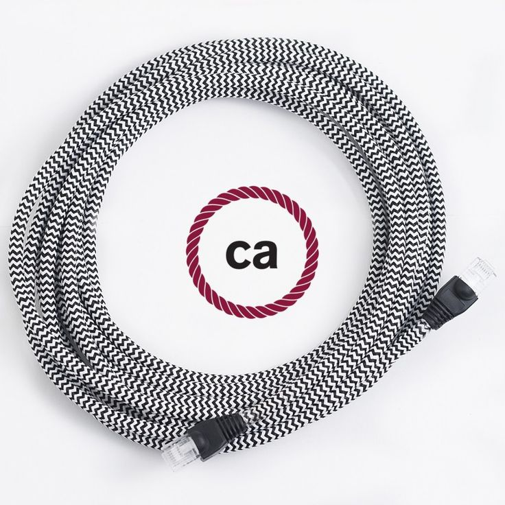 Now even network cables can be an object of design and decor. With Creative Cables LAN cables covered in fabric you can add a touch of elegance and color to your home or at your office!