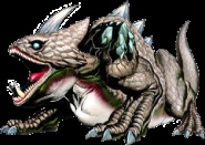 Infernal Dinosaur: King Dodongo - The Legend of Zelda: Ocarina of Time; Official artwork for the game