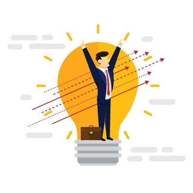 創造的なビジネスアイデアビジネスマンイラスト ビジネス