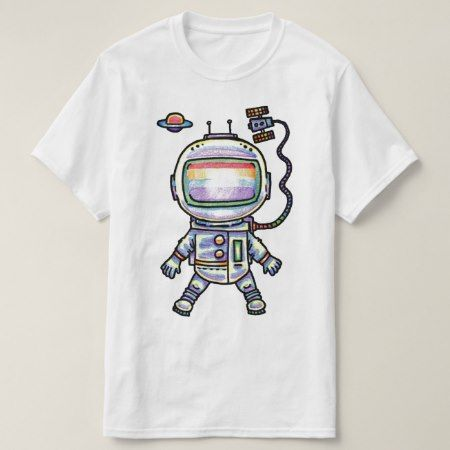 Astronaut (Color Pencil Drawing) T-Shirt - click to get yours right now!