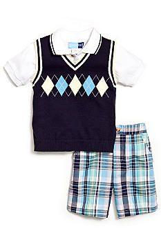 Good Lad 3-Piece Argyle Sweater Set Toddler Boys