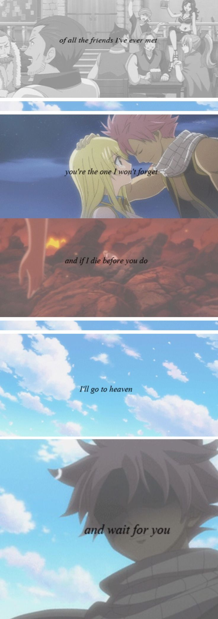 Oh look. There goes my soul.This reminded me of when future lucy died and I cried T.T