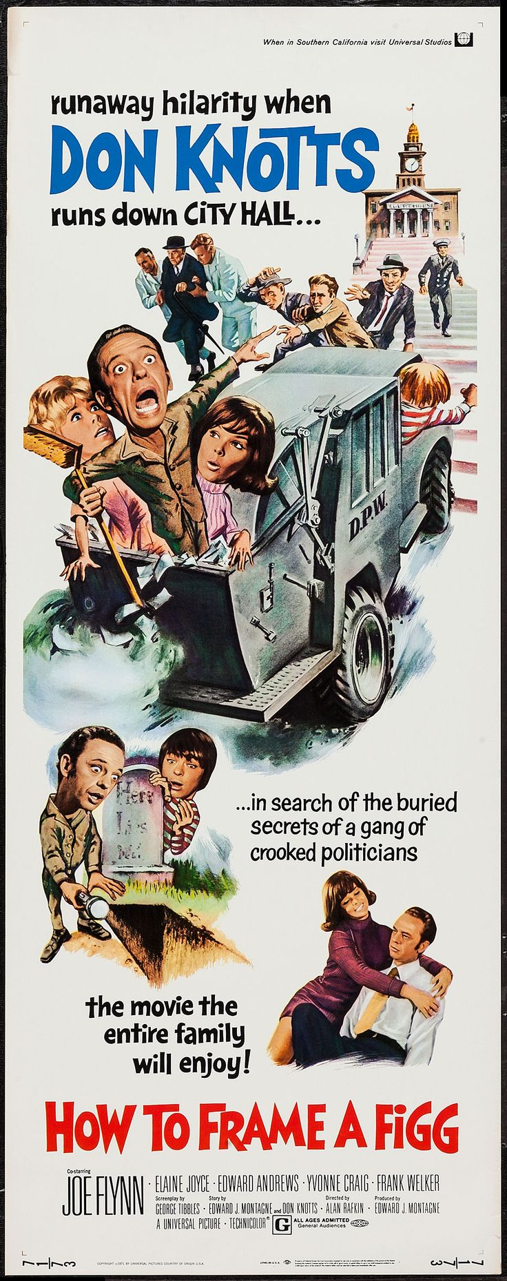 How to Frame a Figg (1971) Stars: Don Knotts, Joe Flynn, Edward Andrews, Elaine Joyce, Yvonne Craig, Frank Welker ~ Director: Alan Rafkin