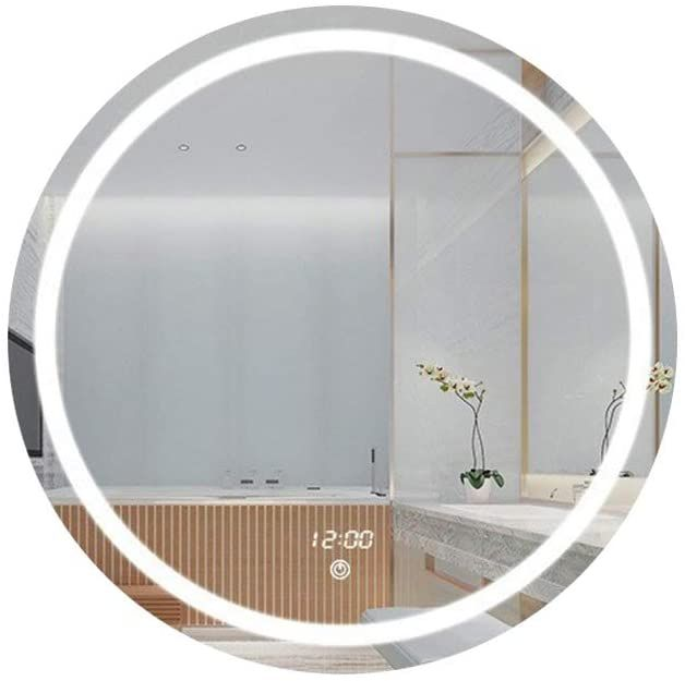 Vanity Mirror Touch Screen Dimming With Lights Round Frame Big Wall Mirror With Anti Fog Wall Mounted Bathr In 2020 Wall Mounted Mirror Big Wall Mirrors Bathroom Wall