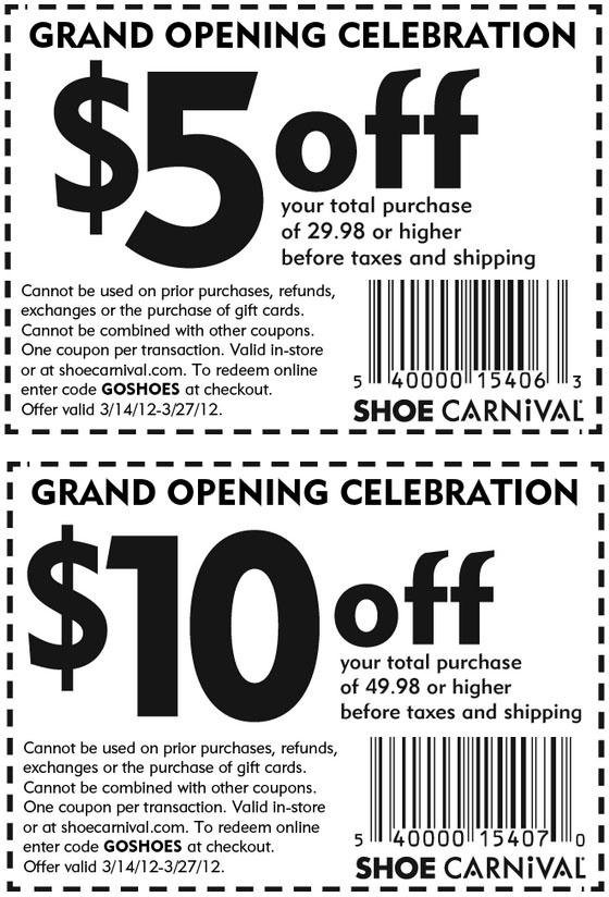 image regarding Shoe Show Printable Coupon named Shoe carnival printable discount codes sept 2018 / Candlescience
