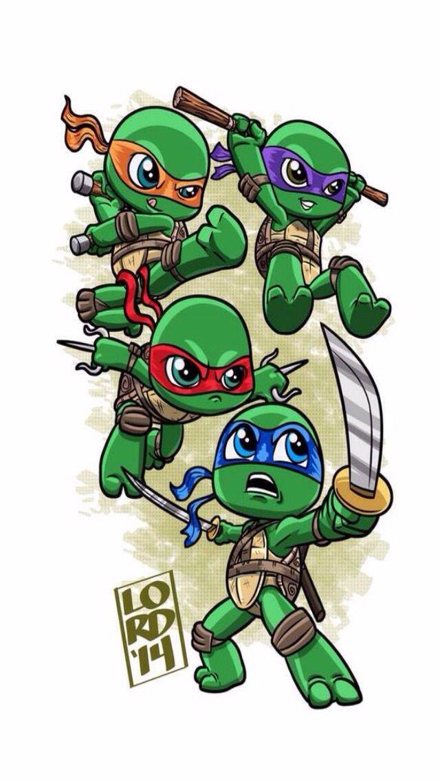 Chibi Teenage mutant ninja turtles by lordmesa