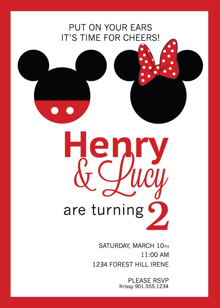 minnie mouse birthday party invitation template free invitations