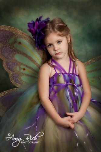 Flower Girl Tutu Dress  Baby and Toddler Sized Purple Forest Fairy. $92.00, via Etsy.