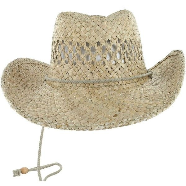 DealStock COWBOY Shapeable Western Mens Womens STRAW HAT Rodeo Farm... ❤ liked on Polyvore featuring men's fashion, men's accessories, men's hats, mens summer hats, mens caps and hats, mens straw hats and mens straw baseball caps