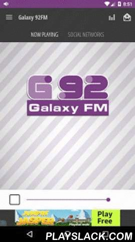Galaxy 92FM  Android App - playslack.com ,  Ο Galaxy 92 είναι το ραδιόφωνο που χαρακτηρίζει με το όνομα του μια ολόκληρη κατηγορία μουσικής. Τα τελευταία 25 χρόνια μεταδίδει με μοναδική συνέπια τα κορυφαία συγκροτήματα αλλά και καλλιτέχνες από όλα τα είδη της soft μουσικής. Ερωτικές , ποπ , ροκ , country μπαλάντες και όχι μόνο μπλέκονται με μοναδικό τρόπο στο πρόγραμμα του Galaxy 92. Ένα υπέροχο μουσικό ταξίδι ξεκινάει ….Created by : 3ds web - looksomething.com De Galaxy 92 is de radio met…