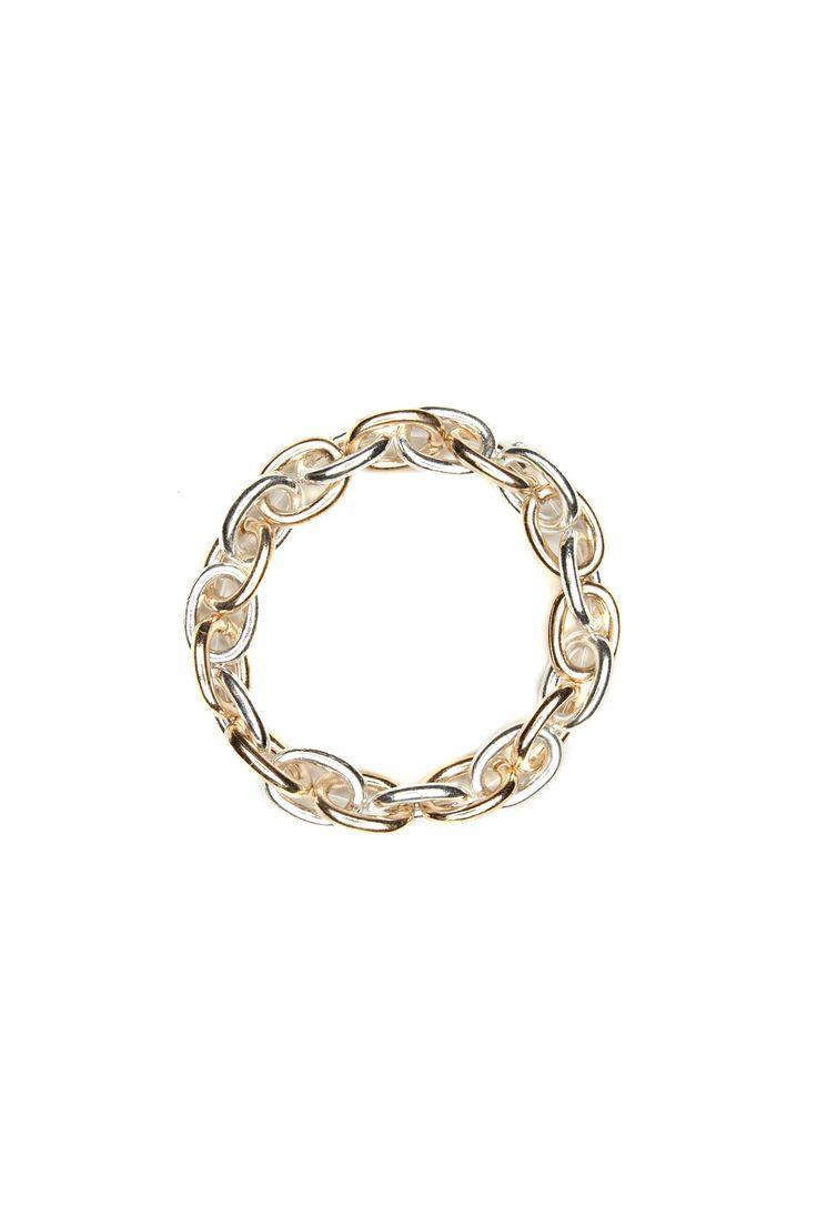 Bracelet extensible chaînes métalliques / Metallic chain extensible bracelet https://www.tristanstyle.com/en/femmes/accessoires/bracelet-extensible-chaines-metalliques/19/fa040g0801z/