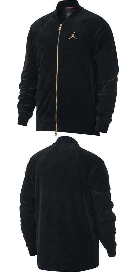 6ead9e8867e6c5 Activewear Jackets 185702  Nike Air Jordan Jsw Velour Jacket Ah2357-010 Men  S Black Gold Retro New -  BUY IT NOW ONLY   69.97 on  eBay  activewear   jackets ...