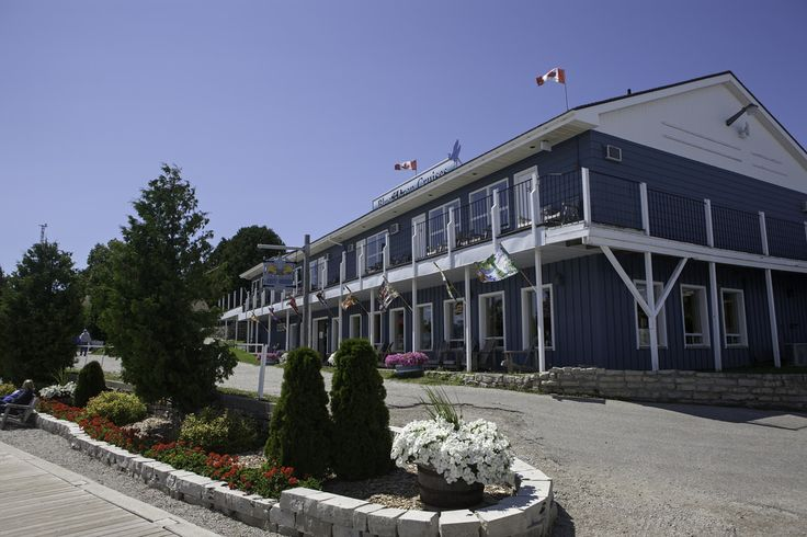 The Net Shed store is located below the Harbourside Motel on Little Tub Harbour Tobermory