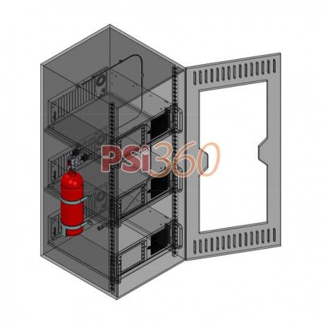Echipament de stingere independent, activ 24/365, cu agent de stingere inert HFC 227 (FM – 200) pentru volume inchise de pana la 10.91 mc.