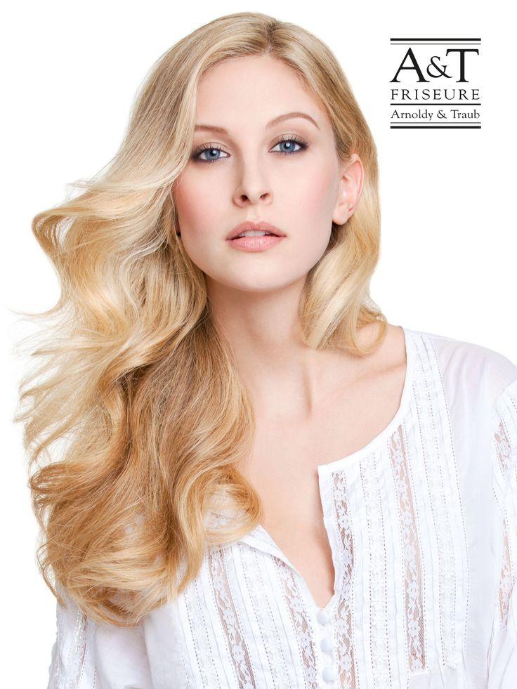 Langhaarfrisur Wellenfrisur blonde Haare #Langhaarfrisuren