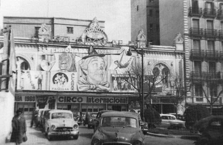 Circo Price en la Plaza del Rey, 1960 Fondo Fotográfico Santos Yubero. Archivo  Regional de la Comunidad de Madrid