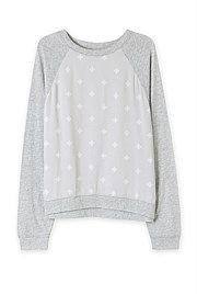 Spliced Print Pyjama Top